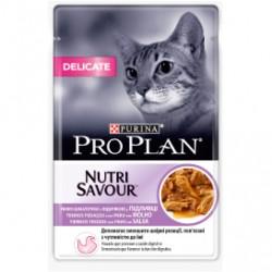Pro plan nutri savour delicate, alimento humedo para gatos