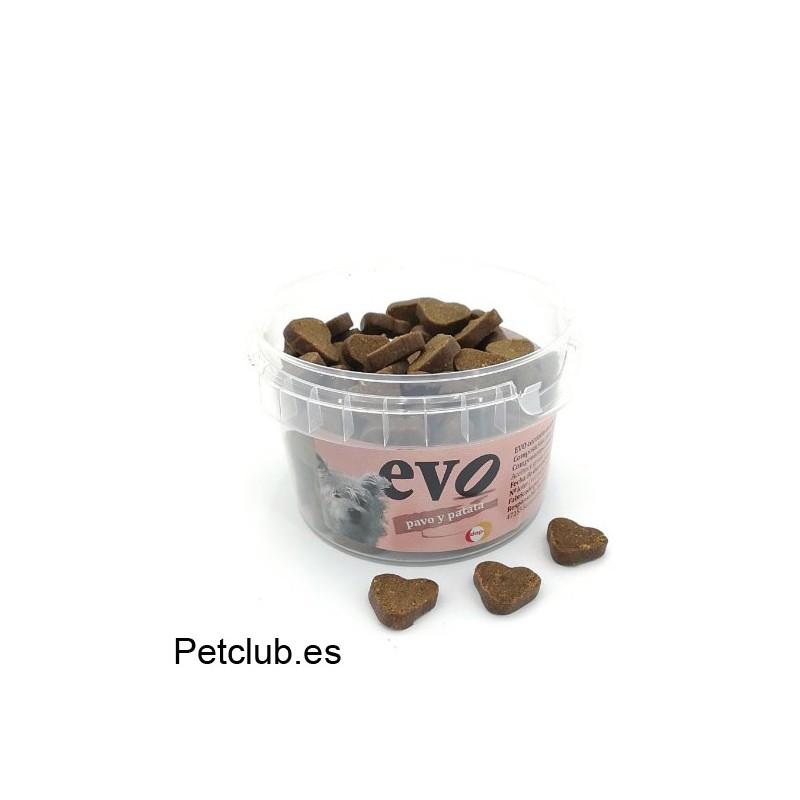 snack natural para perros, evo corazones, premios para perros