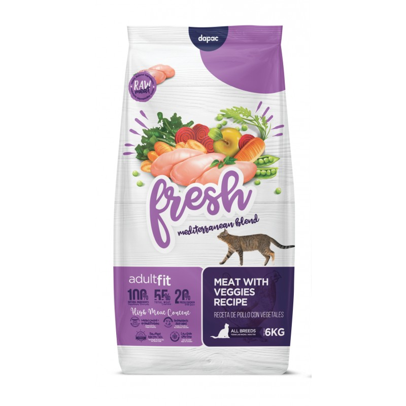 Fresh Mediterranean cat adult fit, anc  fresh gato